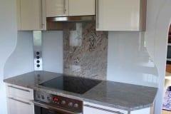 Küchenrückwand einfärbig Grau