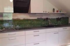 Küchenrückwand mit Bild Wiese mit Pferd