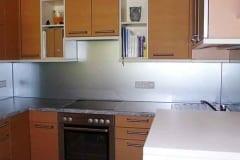 Küchenrückwand einfärbig  Silber