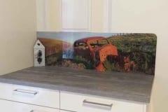 Küchenrückwand mit Bild altes Auto