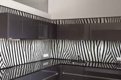 Küchenrückwand Zebramuster