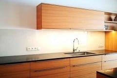 Küchenrückwand einfärbig Weiß
