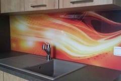 Küchenrückwand mit Muster