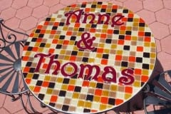 Schmelzglas Tisch