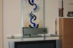 Schmelzglas Wandbild